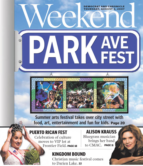 Park Ave Summer Arts Festival graphic sign